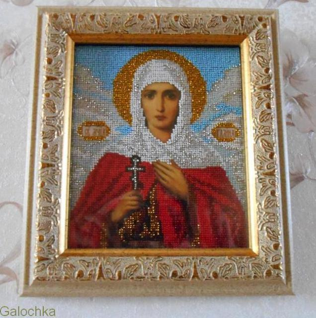 Икона святая мученица Галина.