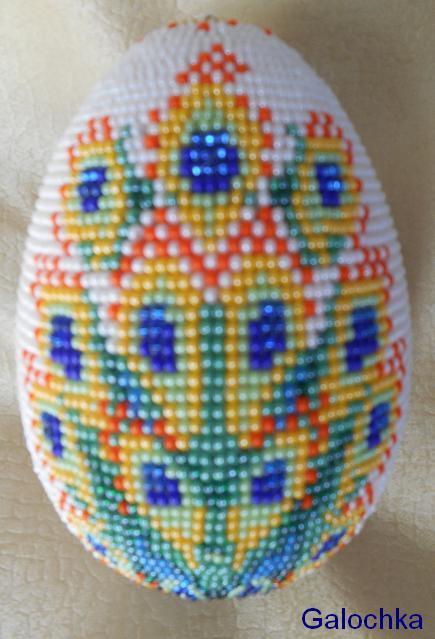 """Яйцо сувенирное """"Павлин"""" обратная сторона"""