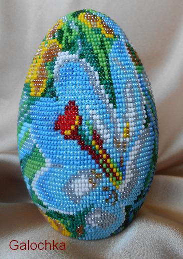 """Яйцо сувенирное """"Весенние цветы"""""""